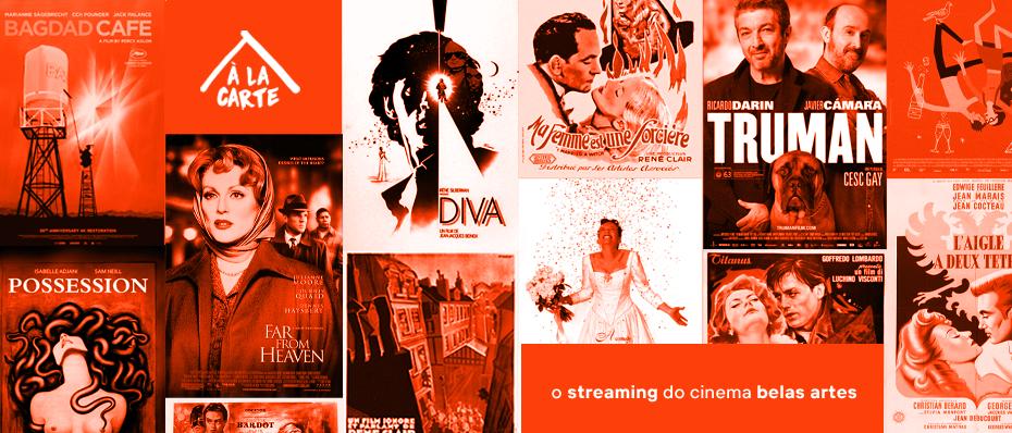 Banner de divulgação do Cine Belas Artes À LÁ CARTE